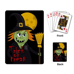 Halloween Witch Playing Card by Valentinaart