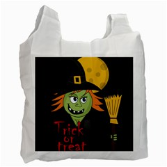 Halloween Witch Recycle Bag (two Side)  by Valentinaart