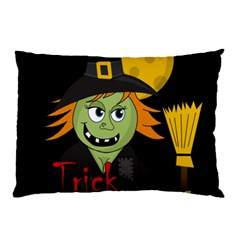 Halloween Witch Pillow Case (two Sides) by Valentinaart