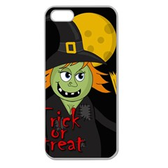 Halloween Witch Apple Seamless Iphone 5 Case (clear) by Valentinaart