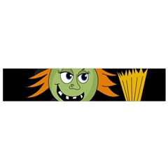 Halloween Witch Flano Scarf (small) by Valentinaart