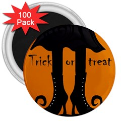 Halloween   Witch Boots 3  Magnets (100 Pack) by Valentinaart