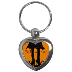 Halloween   Witch Boots Key Chains (heart)  by Valentinaart