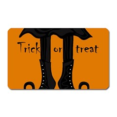 Halloween   Witch Boots Magnet (rectangular) by Valentinaart