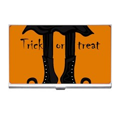 Halloween   Witch Boots Business Card Holders by Valentinaart