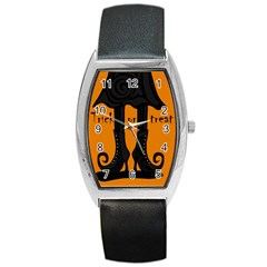 Halloween   Witch Boots Barrel Style Metal Watch by Valentinaart