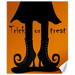Halloween   Witch Boots Canvas 20  X 24   by Valentinaart