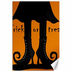 Halloween - Witch Boots Canvas 20  X 30   by Valentinaart