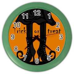 Halloween   Witch Boots Color Wall Clocks by Valentinaart