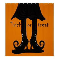 Halloween   Witch Boots Shower Curtain 66  X 72  (large)  by Valentinaart