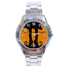 Halloween   Witch Boots Stainless Steel Analogue Watch by Valentinaart
