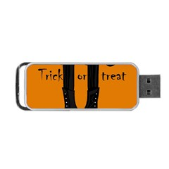 Halloween   Witch Boots Portable Usb Flash (one Side) by Valentinaart