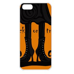 Halloween   Witch Boots Apple Iphone 5 Seamless Case (white)
