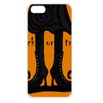Halloween - witch boots Apple iPhone 5 Seamless Case (White) Front