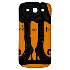 Halloween   Witch Boots Samsung Galaxy S3 S Iii Classic Hardshell Back Case by Valentinaart