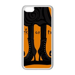 Halloween   Witch Boots Apple Iphone 5c Seamless Case (white) by Valentinaart