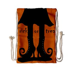 Halloween   Witch Boots Drawstring Bag (small) by Valentinaart