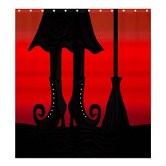 Halloween Black Witch Shower Curtain 66  X 72  (large)  by Valentinaart