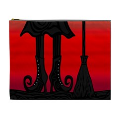Halloween Black Witch Cosmetic Bag (xl) by Valentinaart