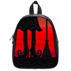Halloween Black Witch School Bags (small)  by Valentinaart