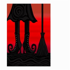 Halloween Black Witch Small Garden Flag (two Sides) by Valentinaart