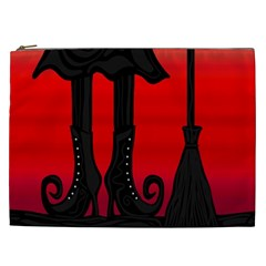 Halloween Black Witch Cosmetic Bag (xxl)  by Valentinaart
