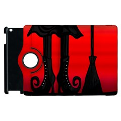 Halloween Black Witch Apple Ipad 3/4 Flip 360 Case by Valentinaart