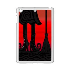 Halloween Black Witch Ipad Mini 2 Enamel Coated Cases by Valentinaart