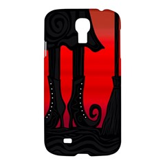 Halloween Black Witch Samsung Galaxy S4 I9500/i9505 Hardshell Case by Valentinaart