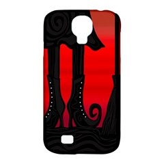 Halloween Black Witch Samsung Galaxy S4 Classic Hardshell Case (pc+silicone) by Valentinaart