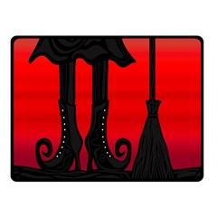Halloween Black Witch Double Sided Fleece Blanket (small)  by Valentinaart