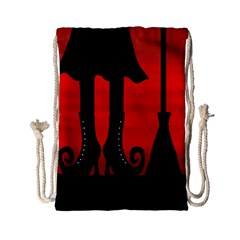 Halloween Black Witch Drawstring Bag (small) by Valentinaart