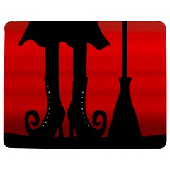 Halloween Black Witch Jigsaw Puzzle Photo Stand (rectangular) by Valentinaart