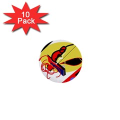 Abstract Art 1  Mini Buttons (10 Pack)  by Valentinaart