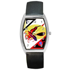 Abstract Art Barrel Style Metal Watch by Valentinaart