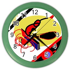 Abstract Art Color Wall Clocks by Valentinaart