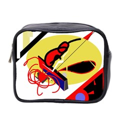 Abstract Art Mini Toiletries Bag 2 Side by Valentinaart