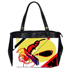 Abstract Art Office Handbags (2 Sides)  by Valentinaart