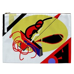 Abstract Art Cosmetic Bag (xxl)  by Valentinaart