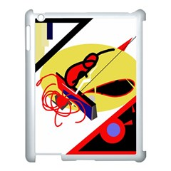 Abstract Art Apple Ipad 3/4 Case (white) by Valentinaart