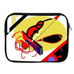 Abstract Art Apple Ipad 2/3/4 Zipper Cases by Valentinaart
