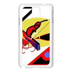 Abstract Art Samsung Galaxy Note 3 N9005 Case (white) by Valentinaart