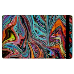 Brilliant Abstract In Blue, Orange, Purple, And Lime Green  Apple Ipad 3/4 Flip Case by digitaldivadesigns