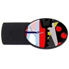 Looking Forwerd Usb Flash Drive Oval (2 Gb)  by Valentinaart