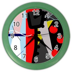 Looking Forwerd Color Wall Clocks by Valentinaart