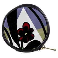 Black Flower Mini Makeup Bags by Valentinaart
