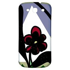 Black Flower Samsung Galaxy S3 S Iii Classic Hardshell Back Case by Valentinaart
