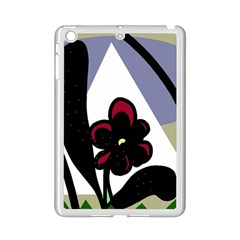 Black Flower Ipad Mini 2 Enamel Coated Cases by Valentinaart