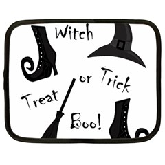 Halloween Witch Netbook Case (large) by Valentinaart