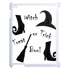 Halloween Witch Apple Ipad 2 Case (white) by Valentinaart
